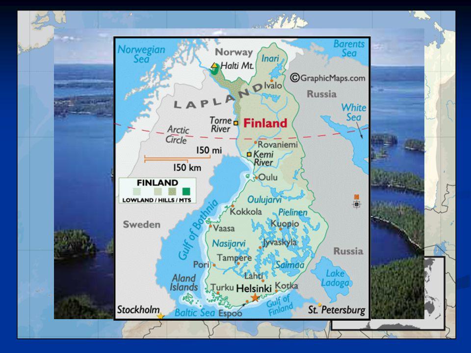 Geografie Země tisíců jezer a ostrovů – 10% plochy pokrývají jezera Země tisíců jezer a ostrovů – 10% plochy pokrývají jezera 187 888 jezer ( Saimaa - 4.