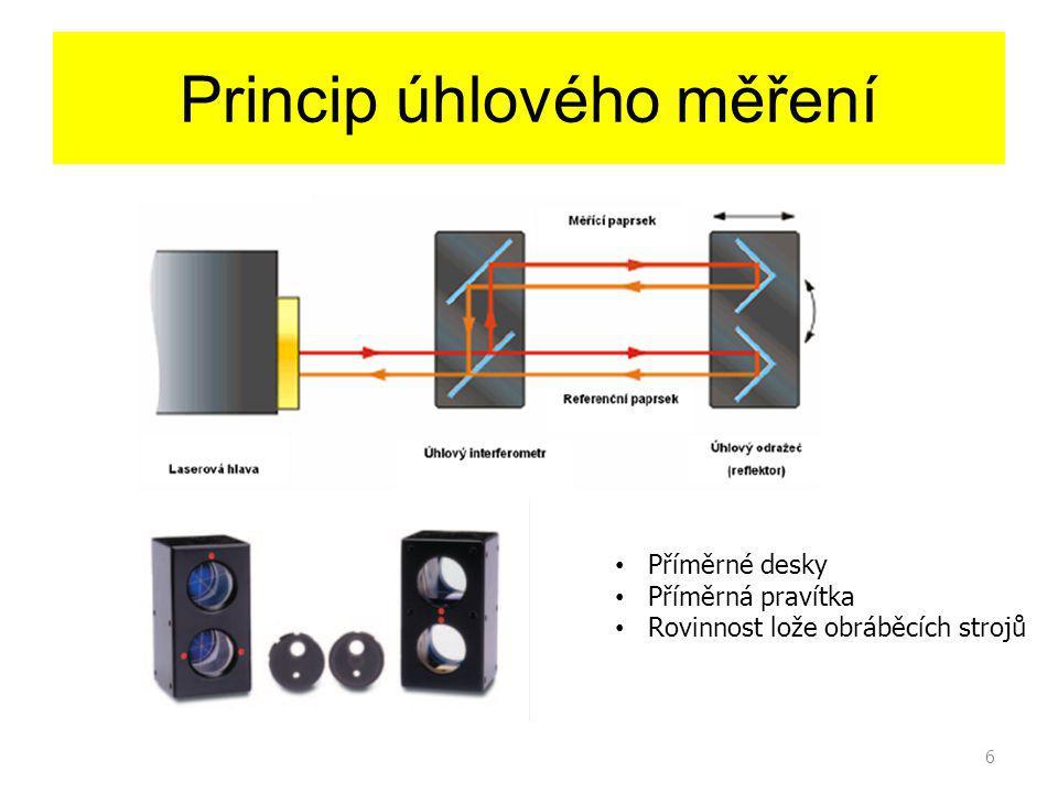 6 Princip úhlového měření Příměrné desky Příměrná pravítka Rovinnost lože obráběcích strojů