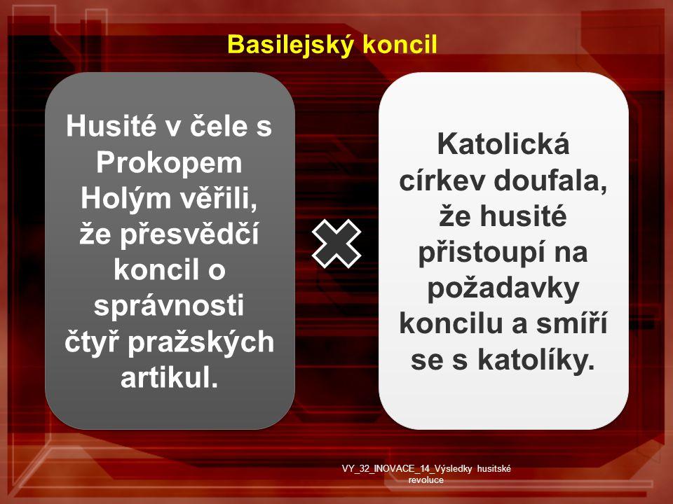 Husité v čele s Prokopem Holým věřili, že přesvědčí koncil o správnosti čtyř pražských artikul.