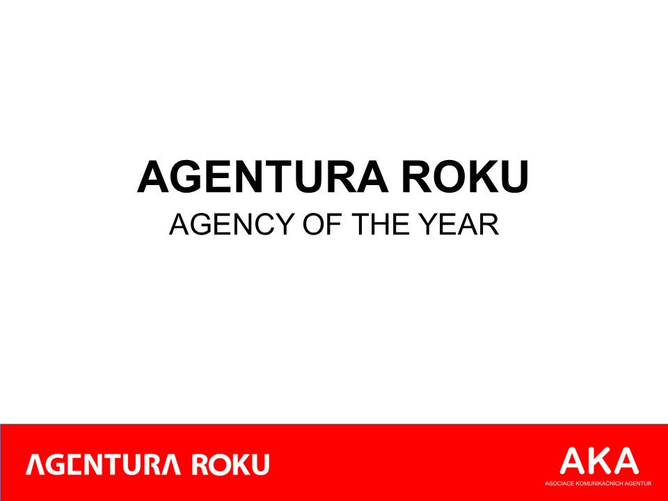 AGENTURA ROKU AGENCY OF THE YEAR