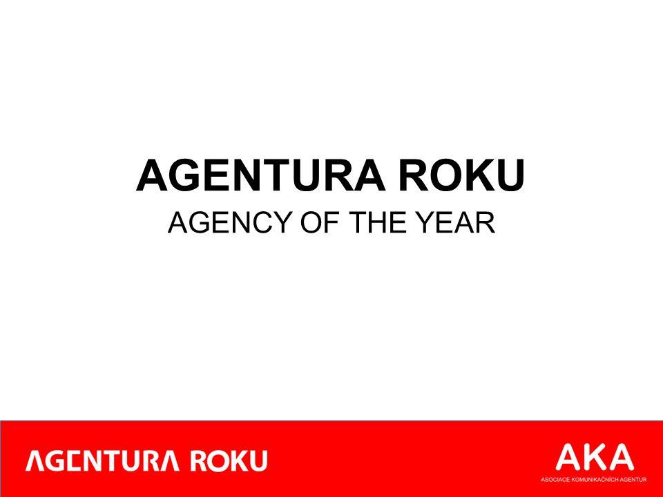 Výsledné pořadí / Final ranking Kombinace váhy uvedených kriterií a agenturou dosažených pořadí určuje výsledný žebříček nejlepších agentur roku 2013 The final ranking of best agency of the year 2013 is made by combining the weight of each criteria to how the agencies scored