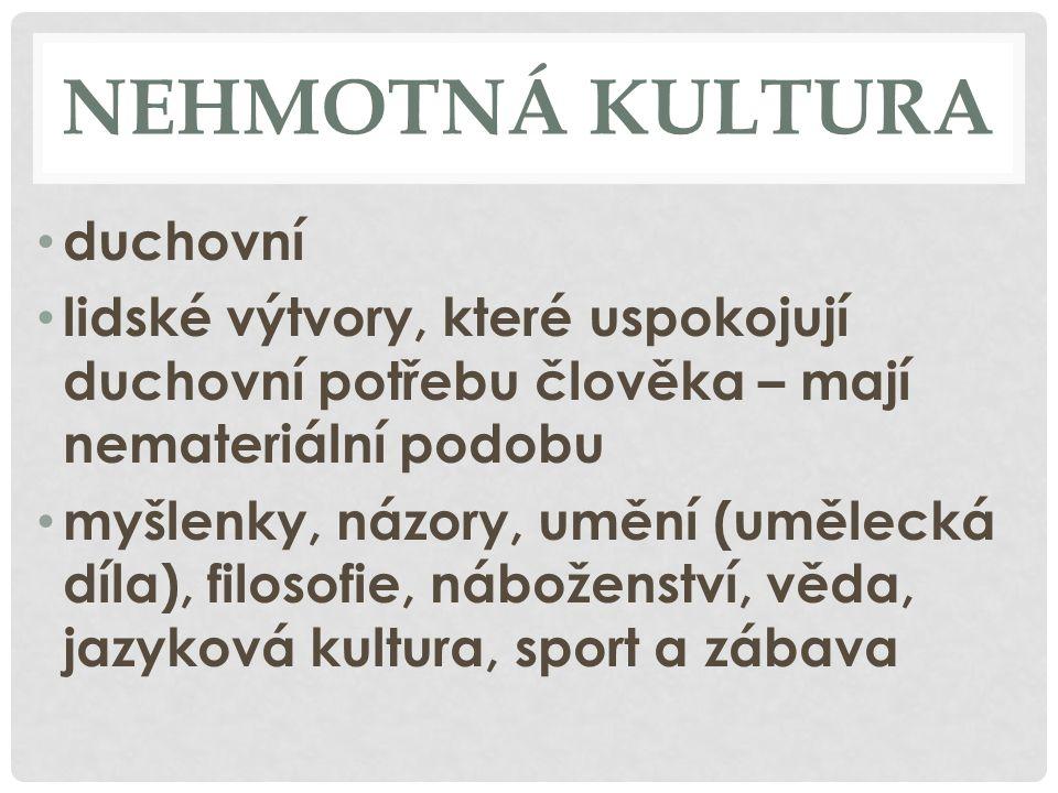 NEHMOTNÁ KULTURA