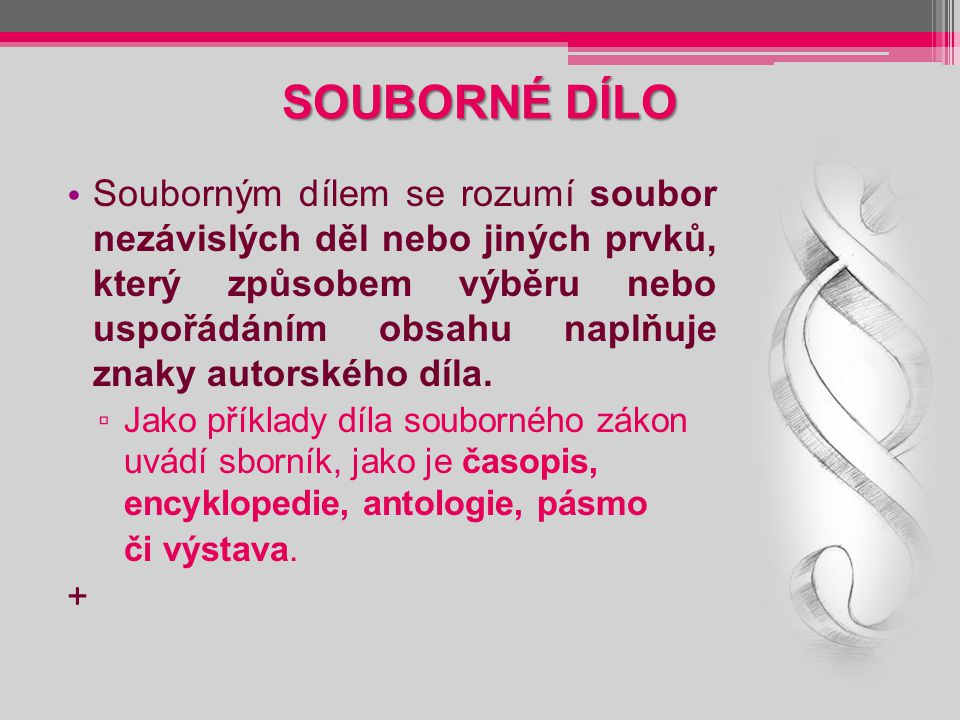 KOLEKTIVNÍ SPRÁVCE V současnosti jsou to tyto organizace: OSA – Ochranný svaz autorský pro práva k dílům hudebním (www.osa.cz),www.osa.cz DILIA, divadelní a literární, audiovizuální agentura (www.dilia.cz),www.dilia.cz INTERGRAM, nezávislá společnost výkonných umělců a výrobců zvukových a zvukově obrazových záznamů (www.intergram.cz),www.intergram.cz +