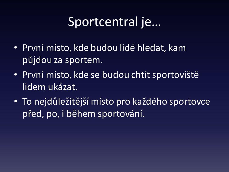 Sportcentral je… První místo, kde budou lidé hledat, kam půjdou za sportem.