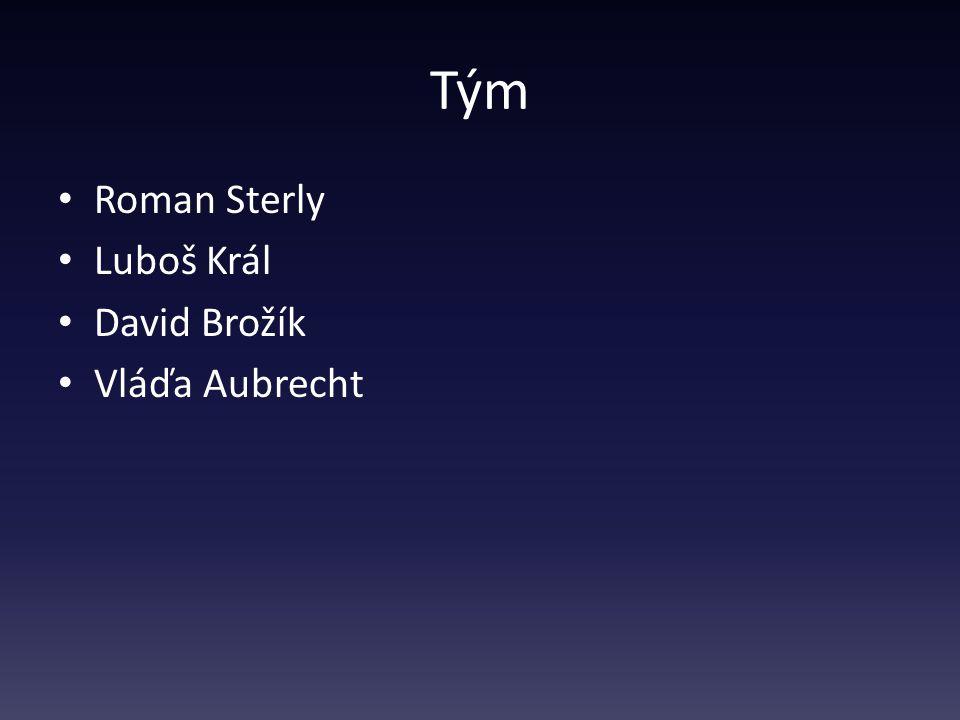 Tým Roman Sterly Luboš Král David Brožík Vláďa Aubrecht