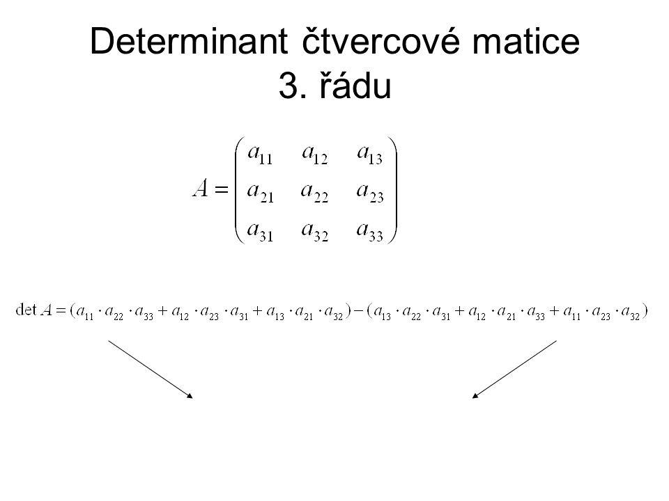 Determinant čtvercové matice 3. řádu