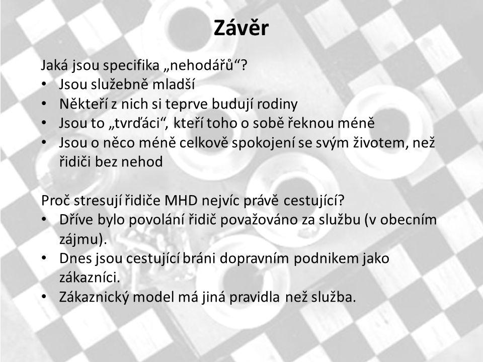 """Závěr Jaká jsou specifika """"nehodářů ."""
