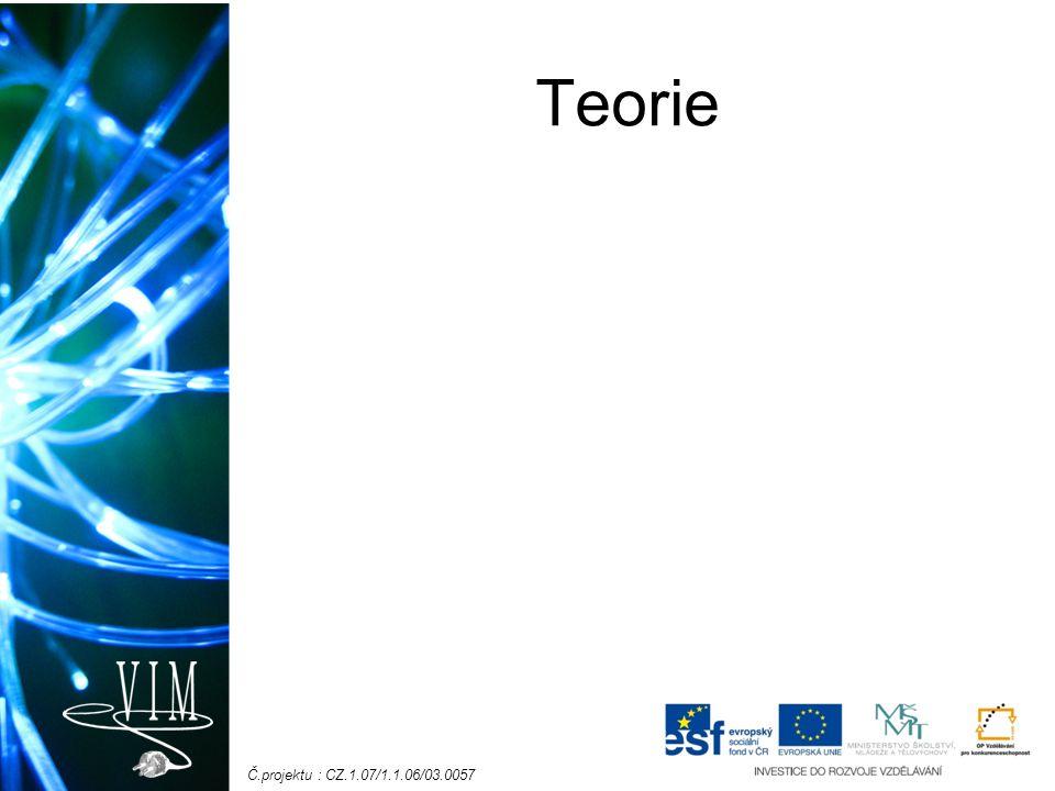 Č.projektu : CZ.1.07/1.1.06/03.0057 Teorie