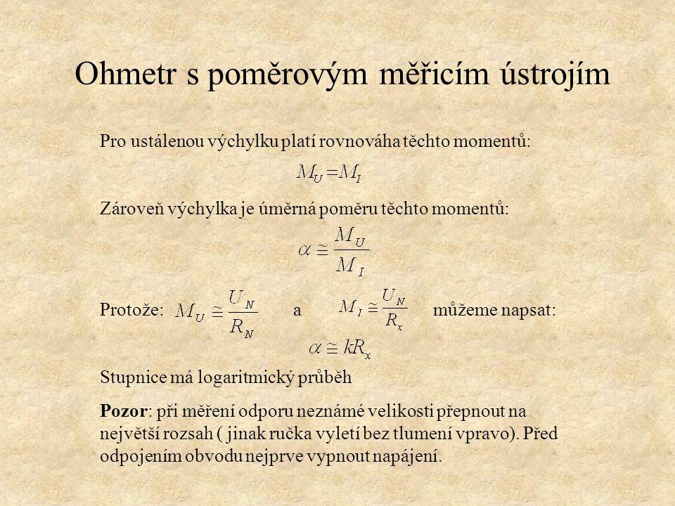 Úkoly Jaké principy ohmmetru se používají.Jakou stupnici mají ohmmetry.