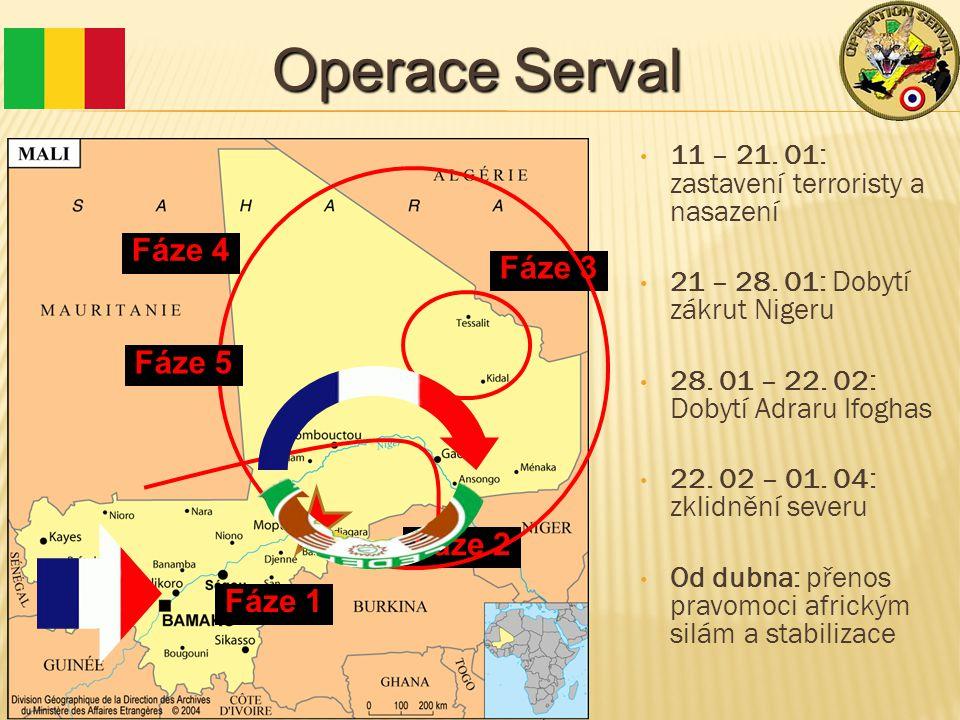 Operace Serval 11 – 21. 01: zastavení terroristy a nasazení 21 – 28.