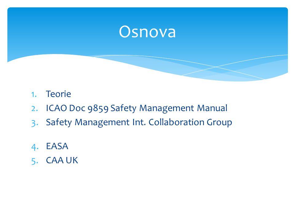 """ Indikátory sledovaly """"aktuálně jen high-risk události  celkový počet událostí  počet událostí ve veřejné obchodní letecké dopravě  počet událostí v řízených prostorech  počet událostí mimo veřejnou obchodní leteckou dopravu  narušení dráhy  nedodržení výšky  narušení vzdušného prostoru  sblížení za letu ve veřejné obchodní letecké dopravě CAA UK - Safety plan 2009-2011"""