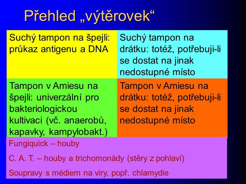 """Přehled """"výtěrovek Tampon v Amiesu na drátku: totéž, potřebuji-li se dostat na jinak nedostupné místo Tampon v Amiesu na špejli: univerzální pro bakteriologickou kultivaci (vč."""