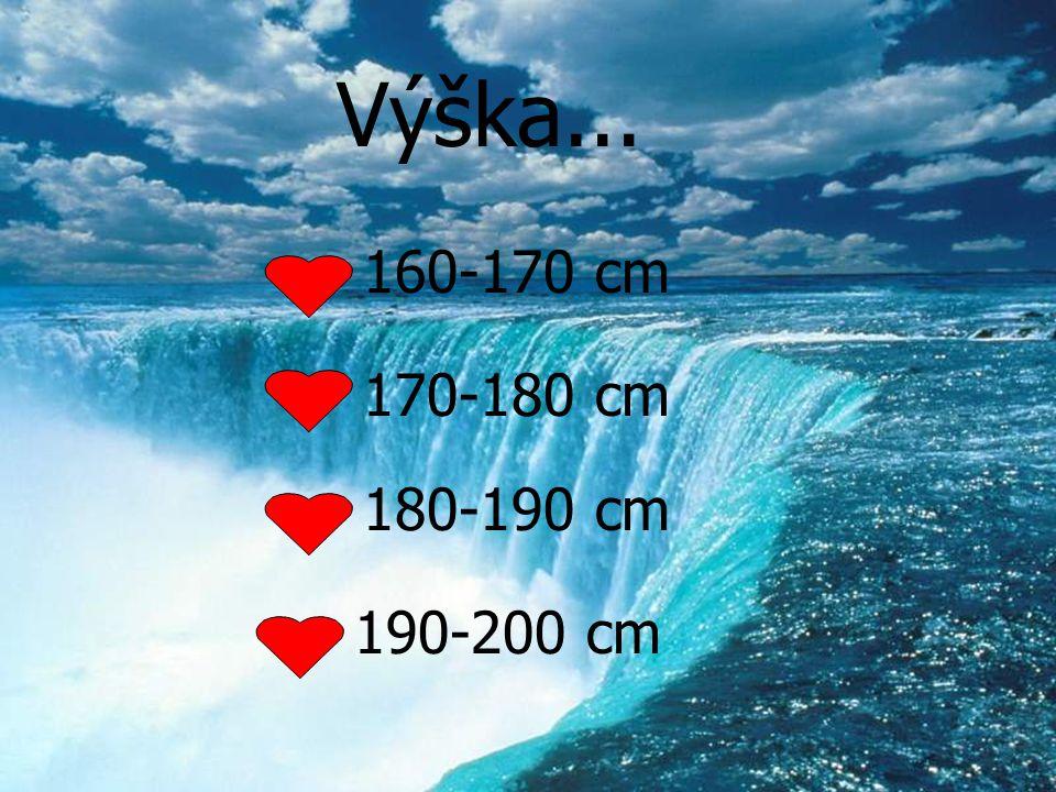 Výška... 160-170 cm 170-180 cm 180-190 cm 190-200 cm