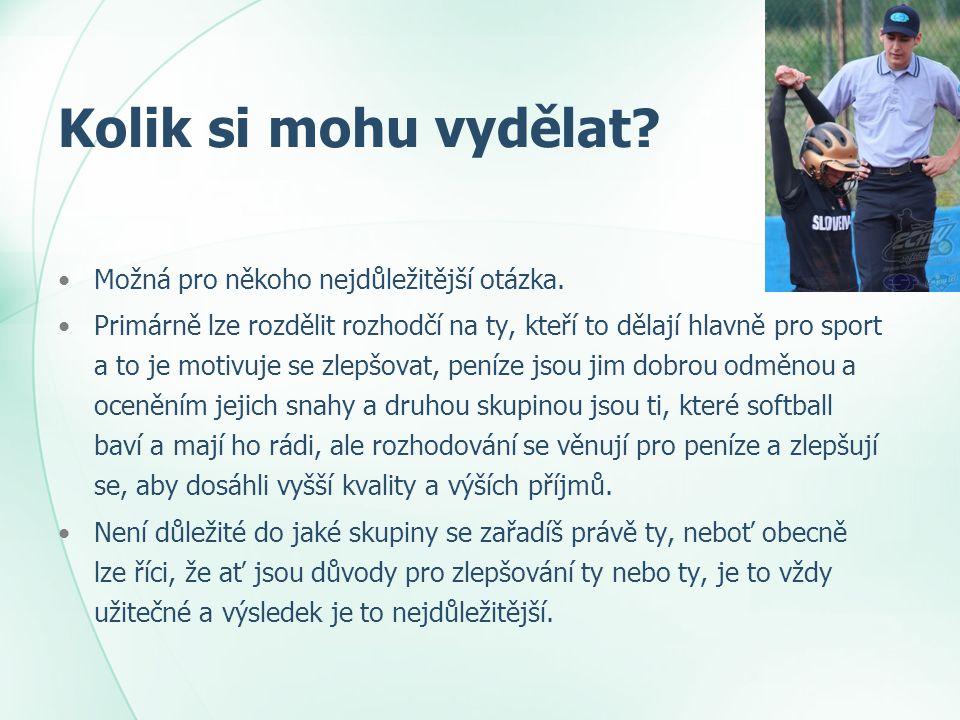 Chci pískat turnaje mládežnických lig V celostátních mládežnických soutěžích se odměna pohybuje kolem 150 – 200 Kč za zápas pro jednoho rozhodčího.