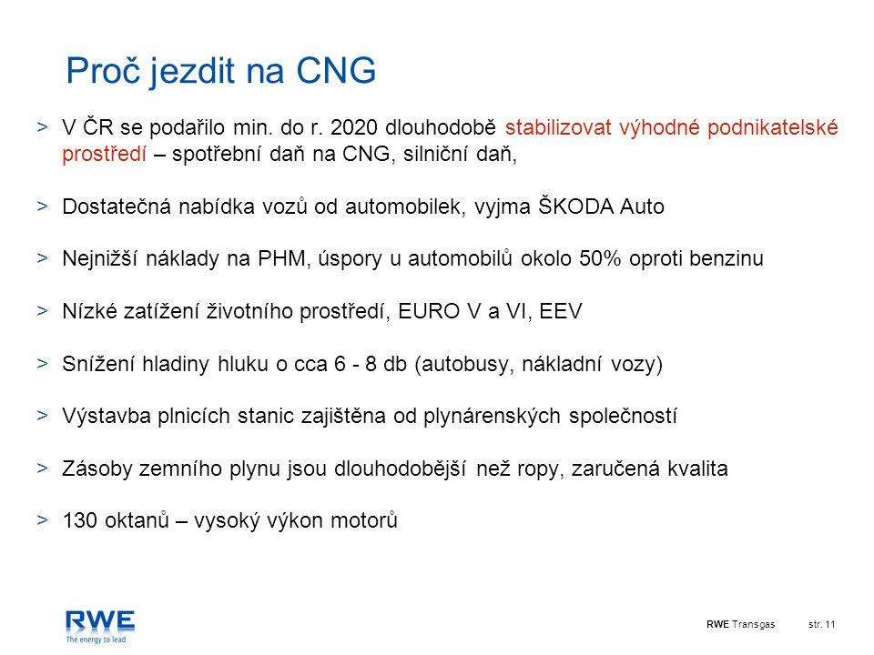 RWE Transgasstr.11 Proč jezdit na CNG >V ČR se podařilo min.