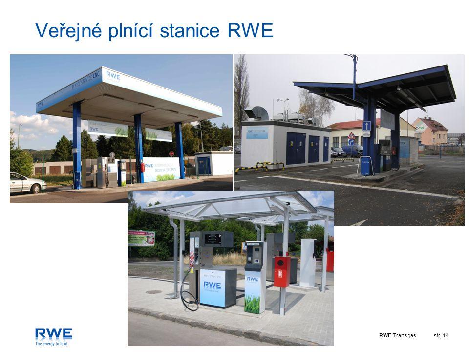 RWE Transgasstr. 14 Veřejné plnící stanice RWE