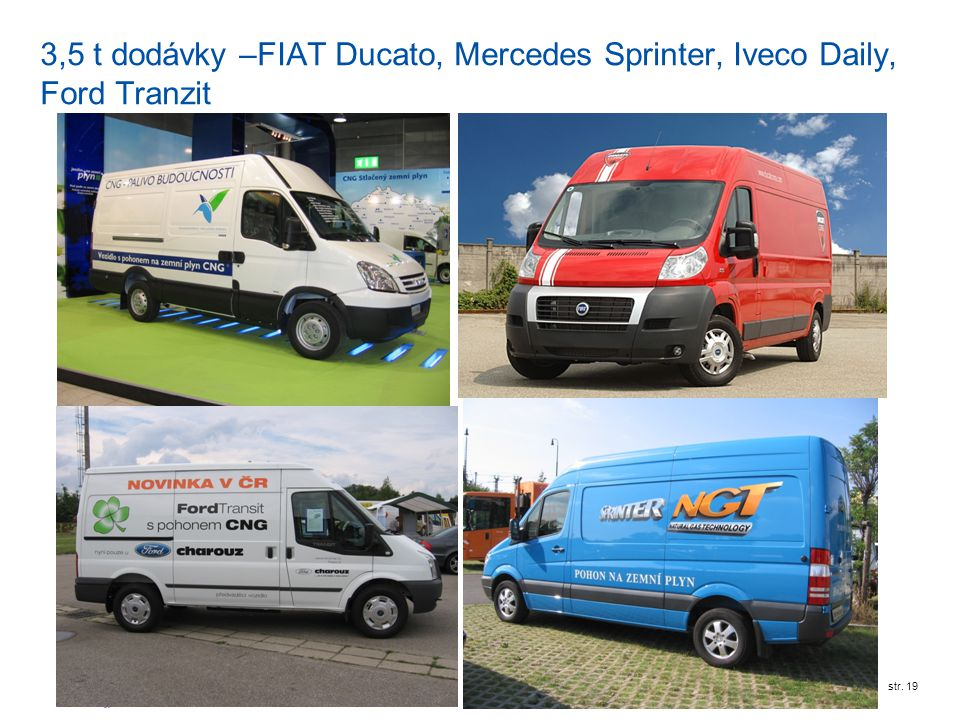 RWE Transgasstr. 19 3,5 t dodávky –FIAT Ducato, Mercedes Sprinter, Iveco Daily, Ford Tranzit