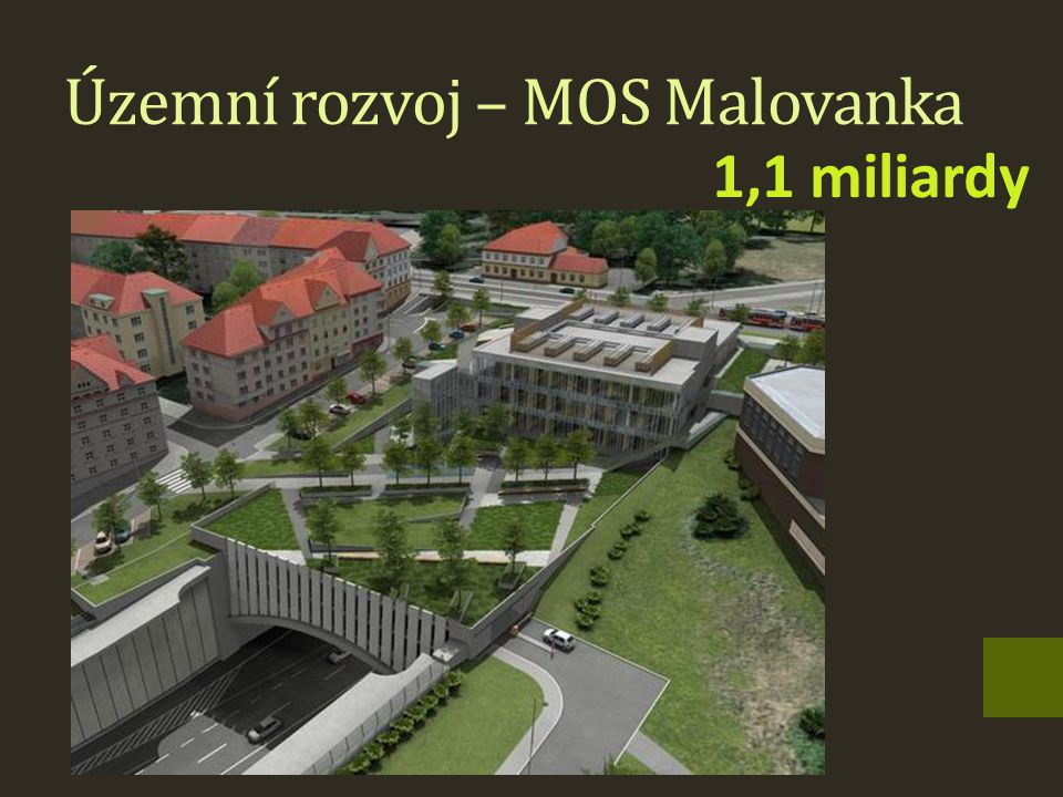 Územní rozvoj – MOS Malovanka 1,1 miliardy