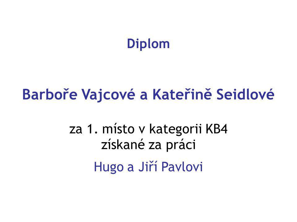 Diplom Barboře Vajcové a Kateřině Seidlové za 1.