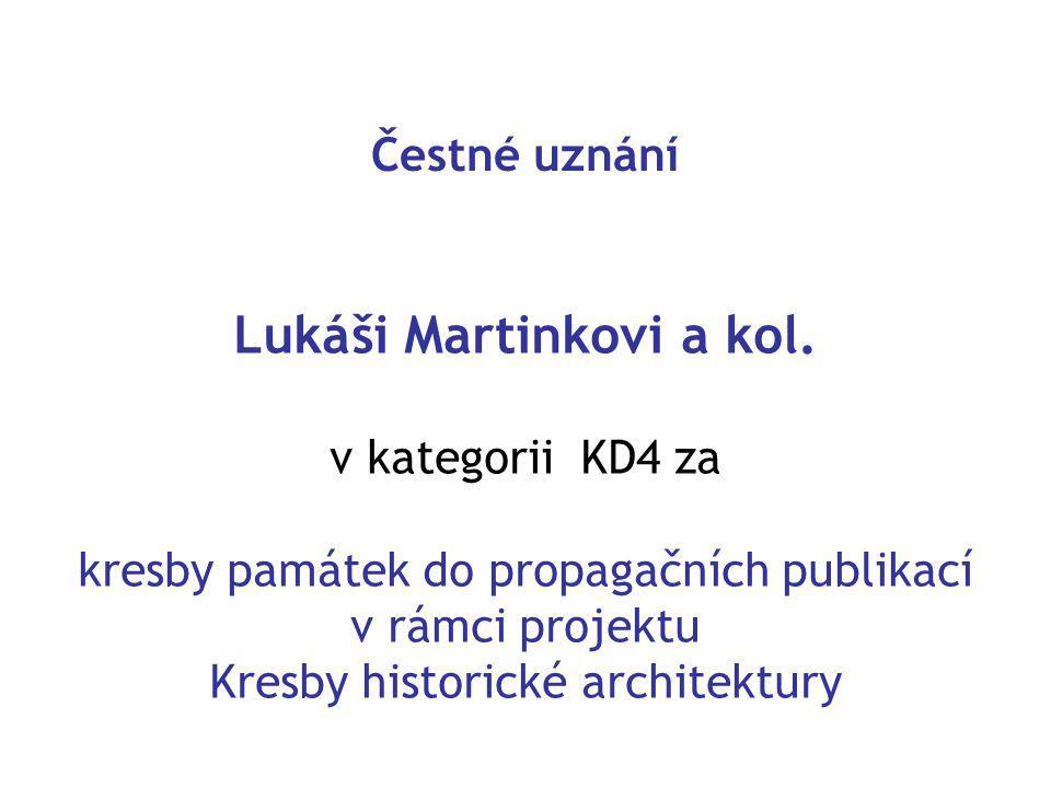 Čestné uznání Lukáši Martinkovi a kol.