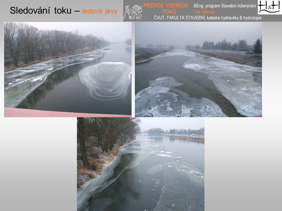 Sledování toku – ledové jevy