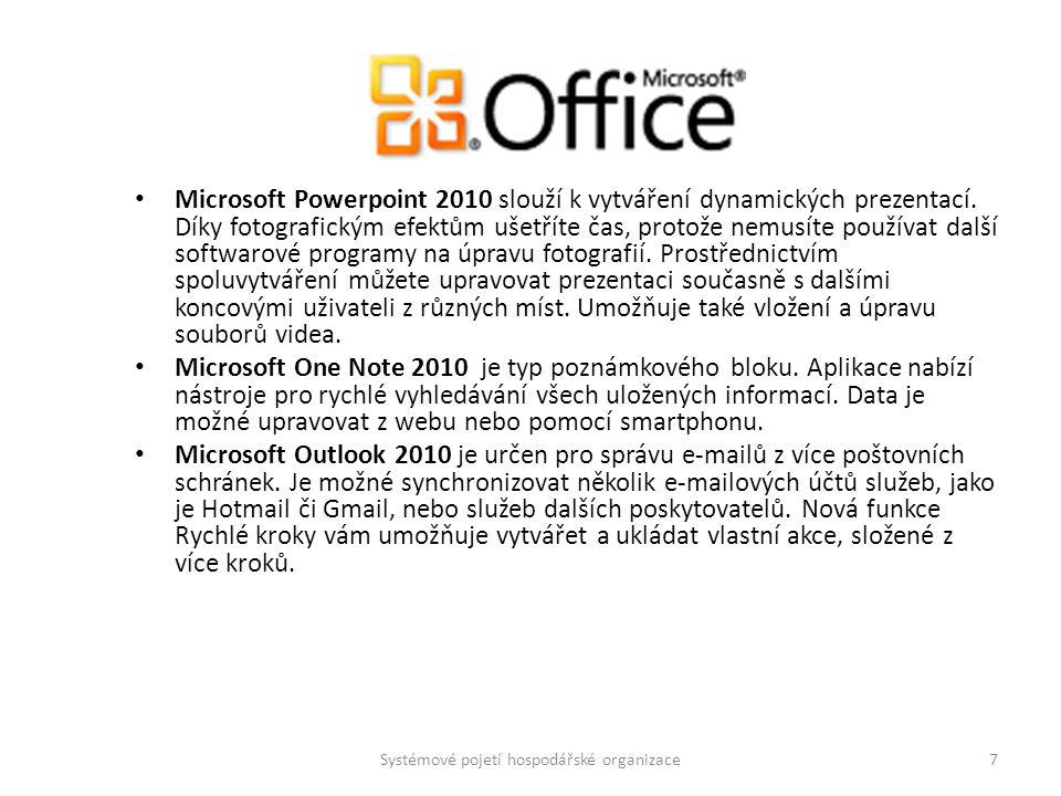 Microsoft Access 2010 je databázová aplikace.Novinkou je využití potenciálu komunity.