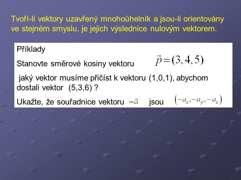 Skalární násobek vektoru Definice: Nechť je k reálné číslo, a nenulový vektor.Součin k.