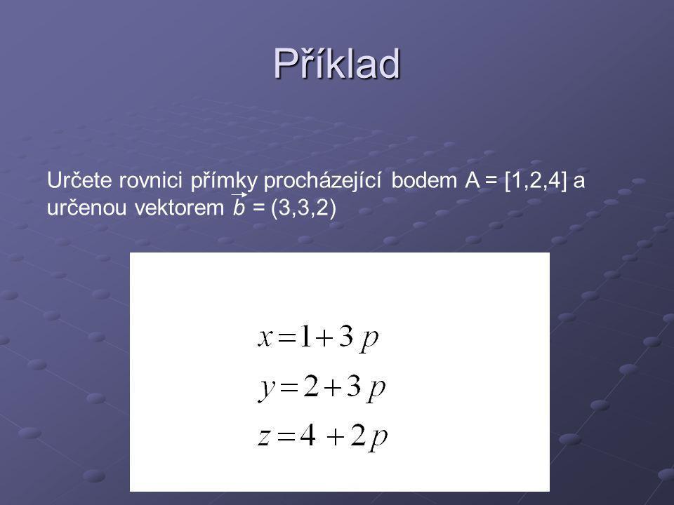 Rovnice roviny a b A P
