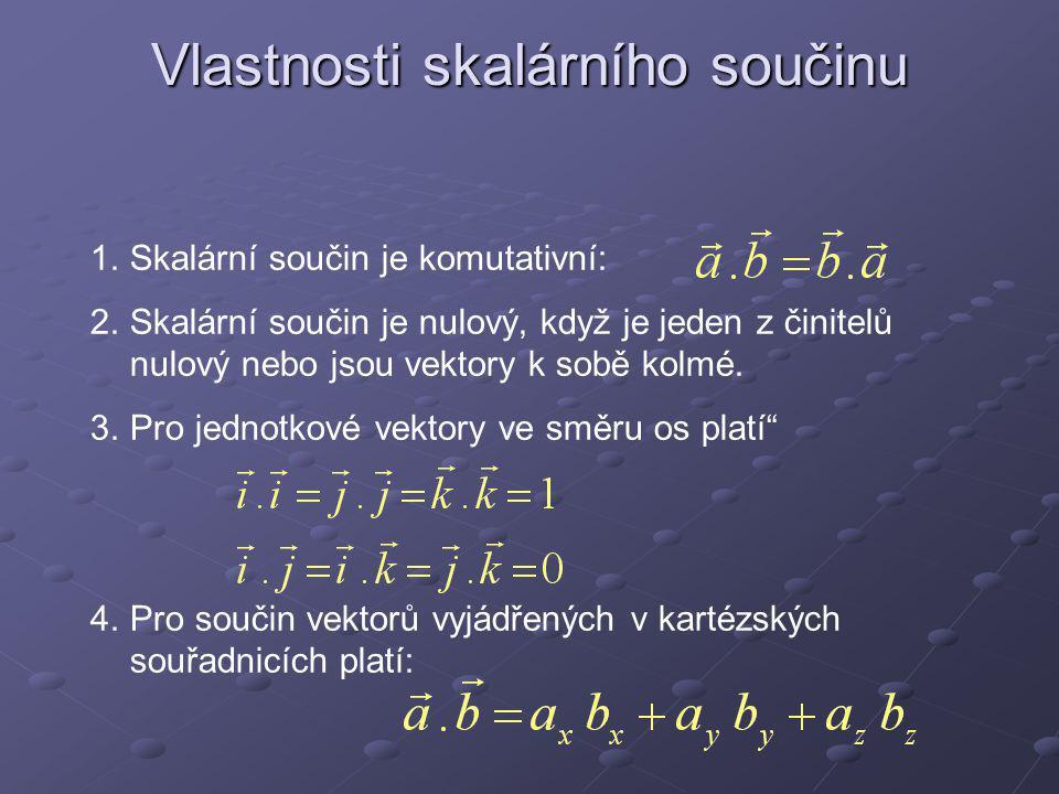 Poznámky V nové matematické i fyzikální literatuře se skalární součin označuje tečkou mezi činiteli.