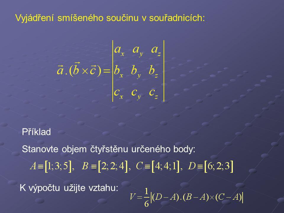 Rovnice roviny Libovolný bod roviny je dán svým radiusvektorem r.