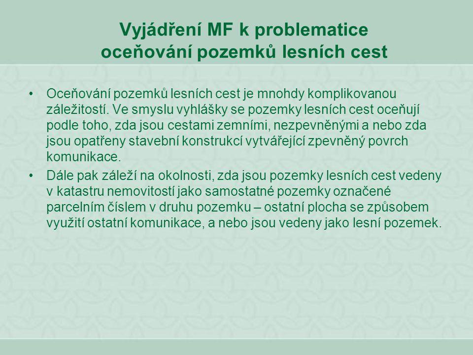 OCEŇOVÁNÍ TRVALÝCH POROSTŮ § 35 Lesní porost na lesním pozemku (1) Cena lesního porostu na lesním pozemku je součtem cen jednotlivých skupin dřevin uvedených v příloze č.