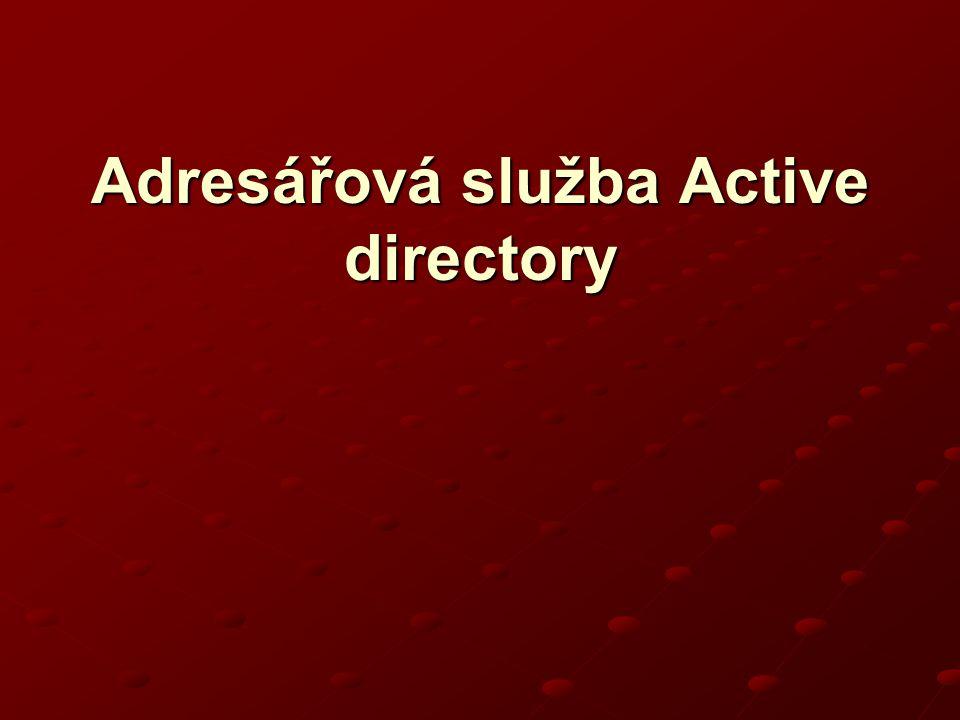 Adresářová služba Active directory