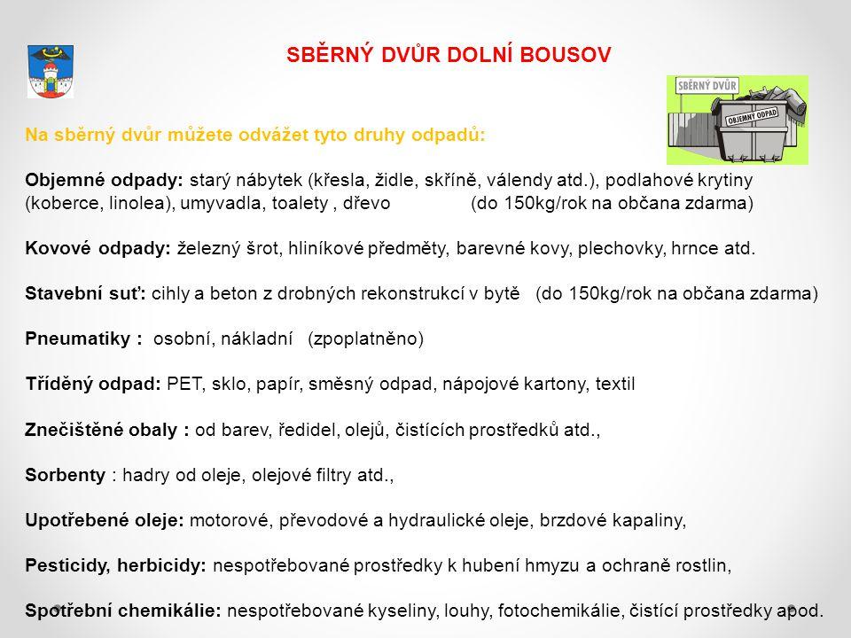 SBĚRNÝ DVŮR DOLNÍ BOUSOV Město Dolní Bousov