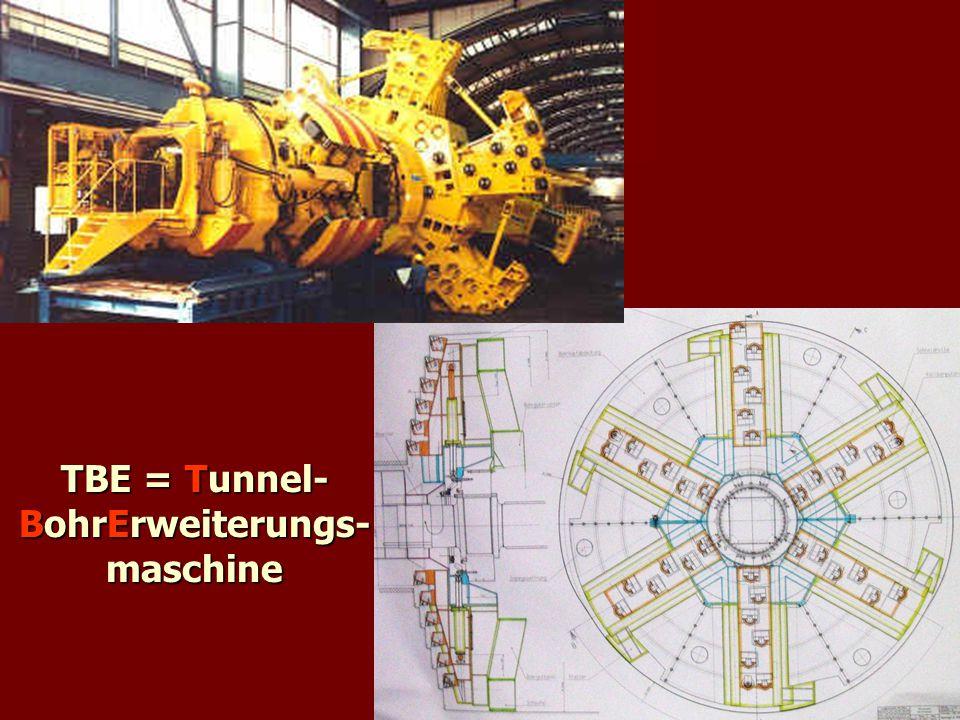 TBE = Tunnel- BohrErweiterungs- maschine