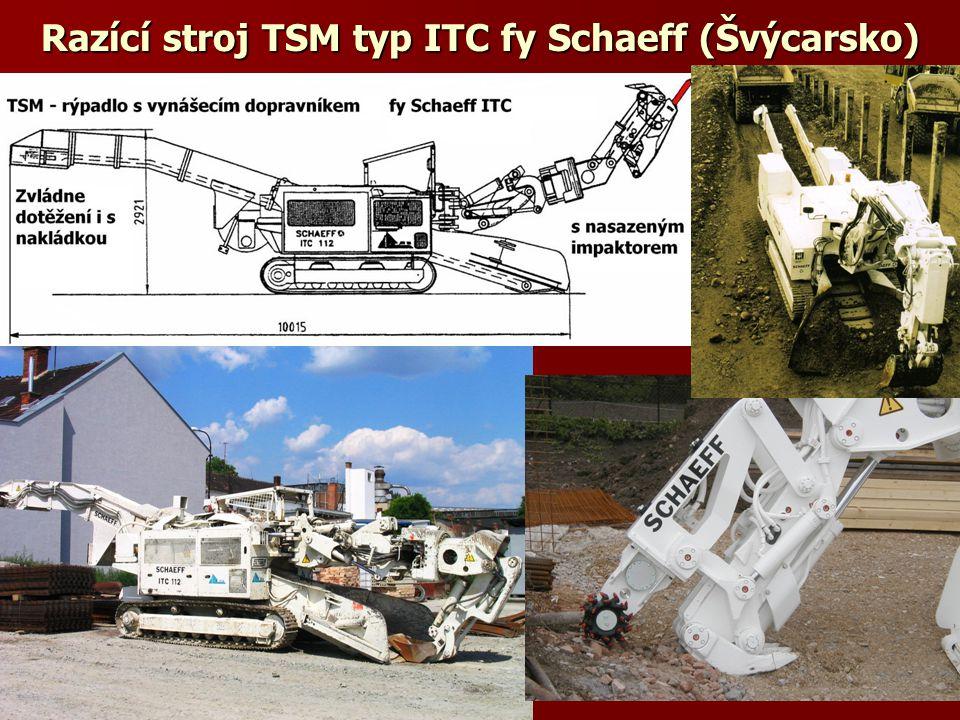 Razící stroj TSM typ ITC fy Schaeff (Švýcarsko)