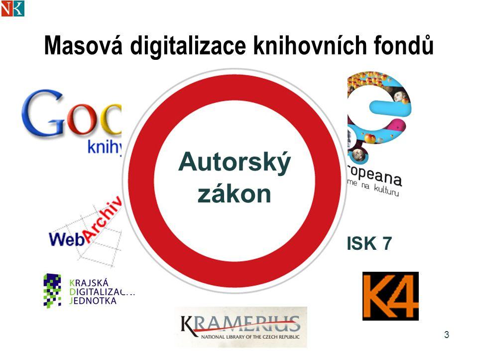Doporučení EK o digitalizaci kulturního materiálu a jeho dostupnosti on-line a o uchovávání digitálních záznamů 24 Směrnice EU 2001/29 o informační společnosti