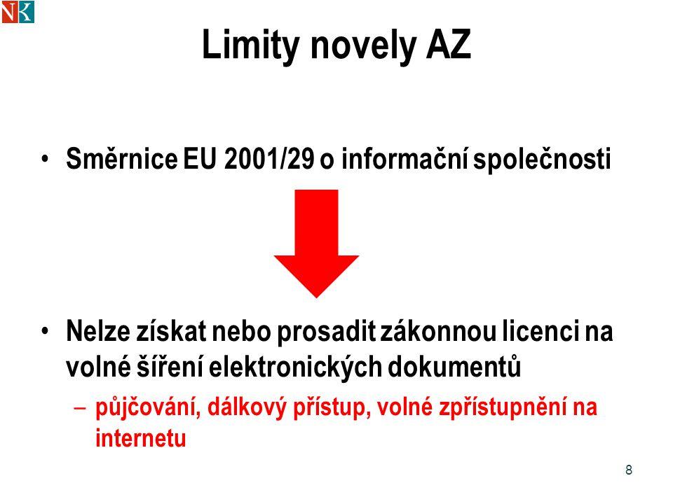 Licence pro užití osiřelých děl Knihovna, archiv, muzeum….