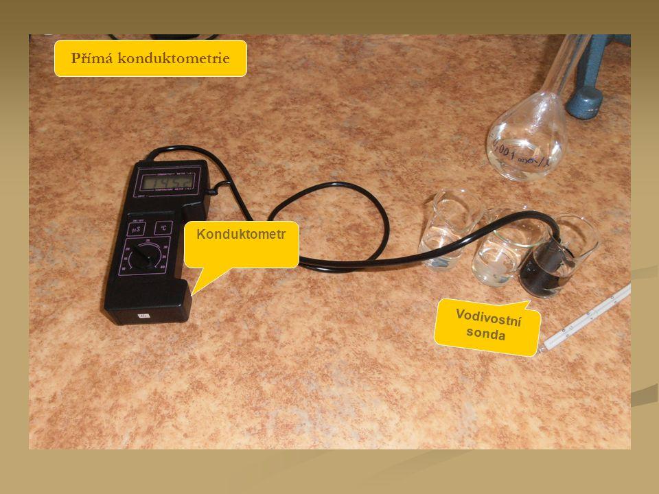 Konduktometr Vodivostní sonda Přímá konduktometrie
