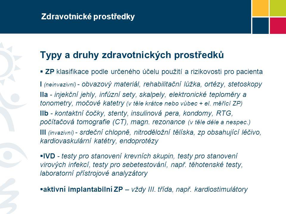Zdravotnické prostředky Právní předpisy Směrnice č.