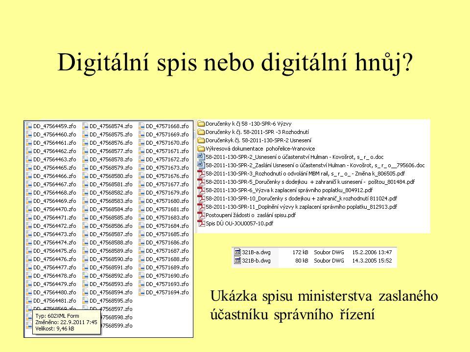 Digitální spis nebo digitální hnůj? Ukázka spisu ministerstva zaslaného účastníku správního řízení