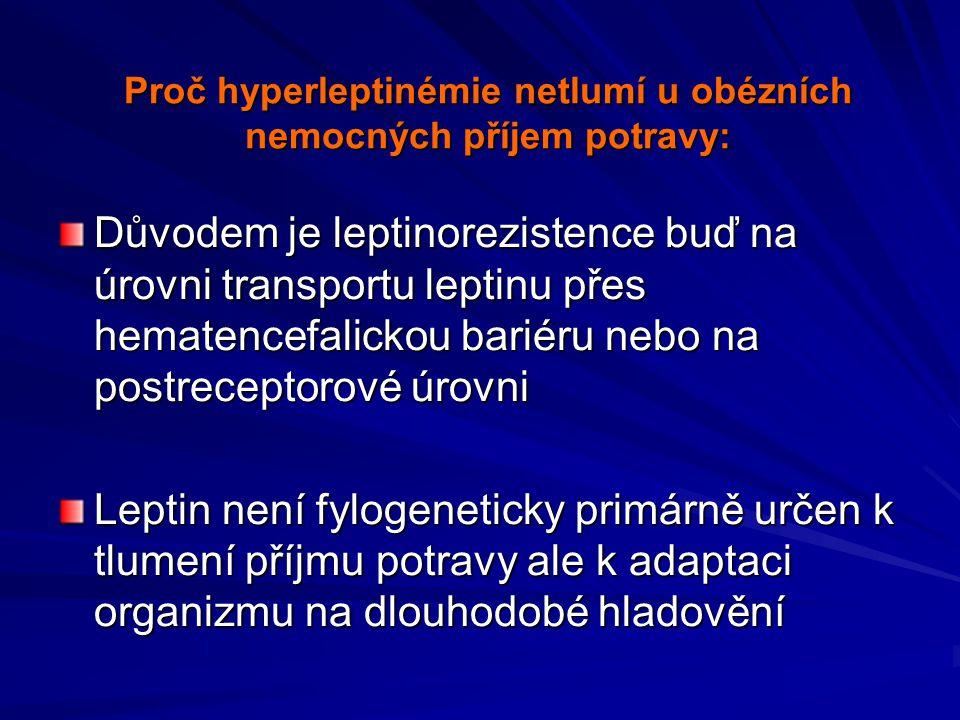 Mutace leptinového genu u lidí vede k morbidní obezitě, substituce leptinu fenotyp upravuje Farooqi SI, J.