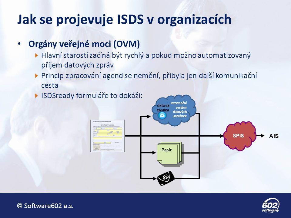 © Software602 a.s.Jsme s ISDS opravdu efektivnější.