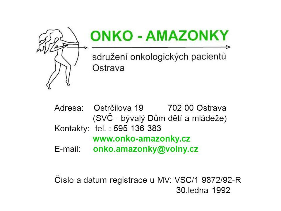 Adresa: Ostrčilova 19 702 00 Ostrava (SVČ - bývalý Dům dětí a mládeže) Kontakty: tel.