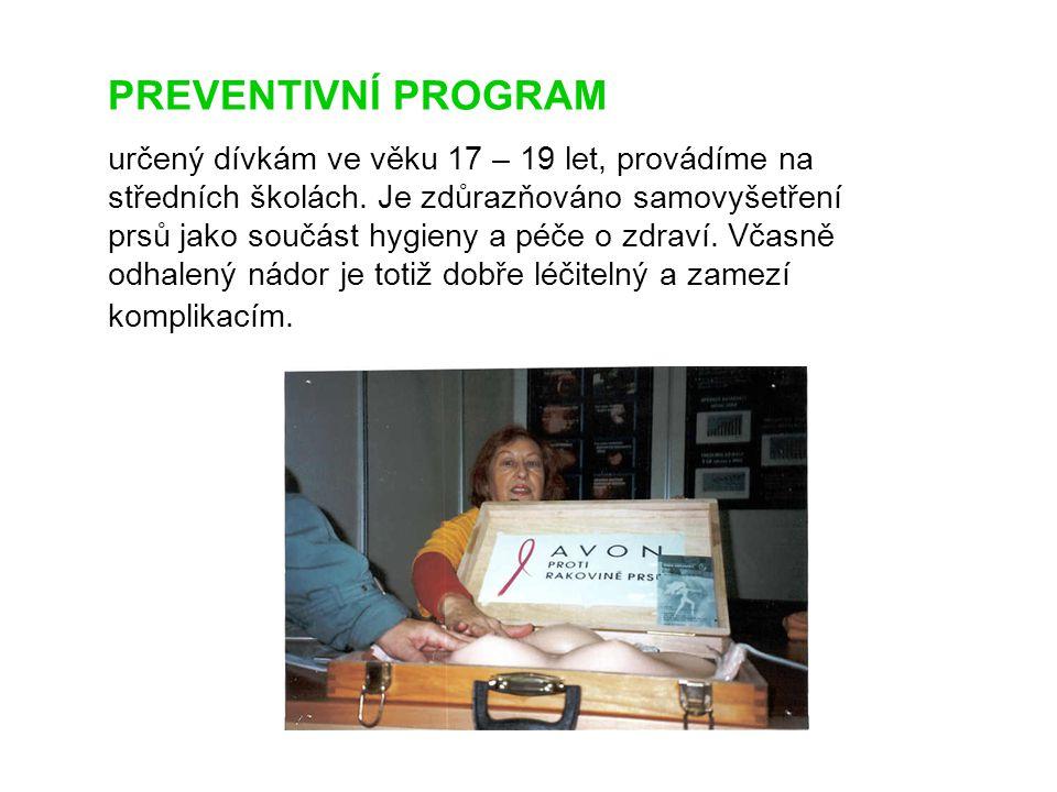 PREVENTIVNÍ PROGRAM určený dívkám ve věku 17 – 19 let, provádíme na středních školách.