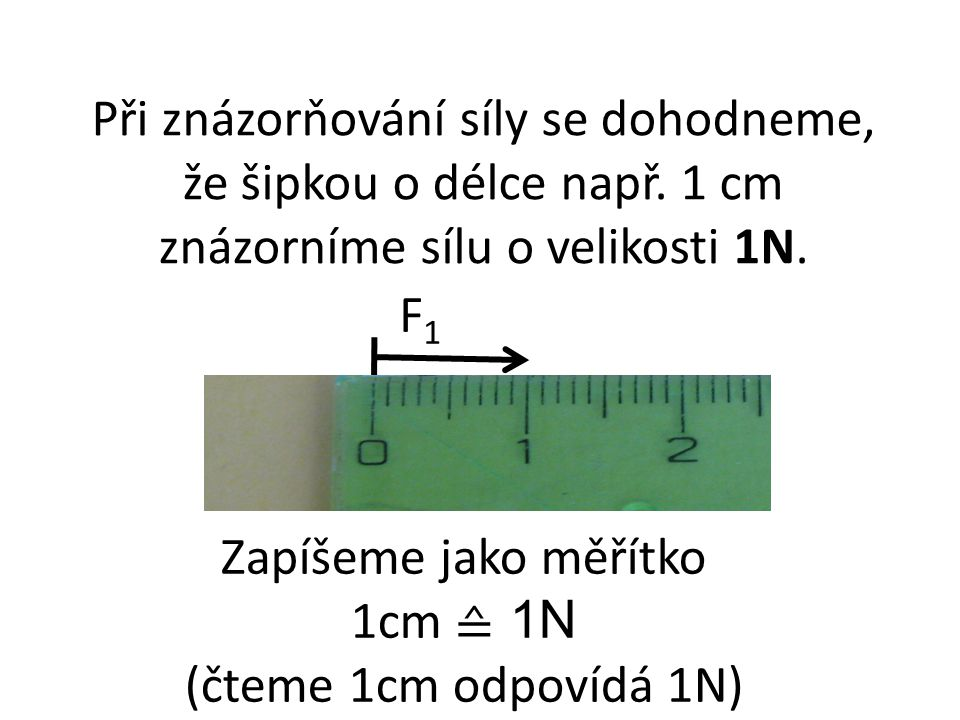 Při znázorňování síly se dohodneme, že šipkou o délce např.