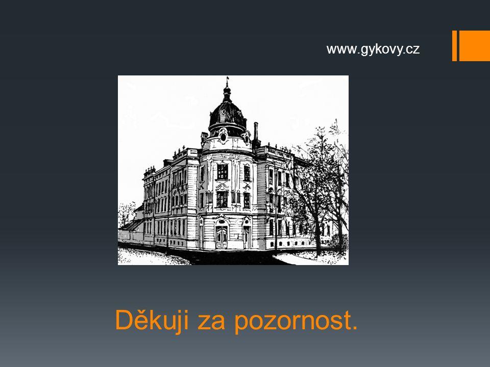 Děkuji za pozornost. www.gykovy.cz