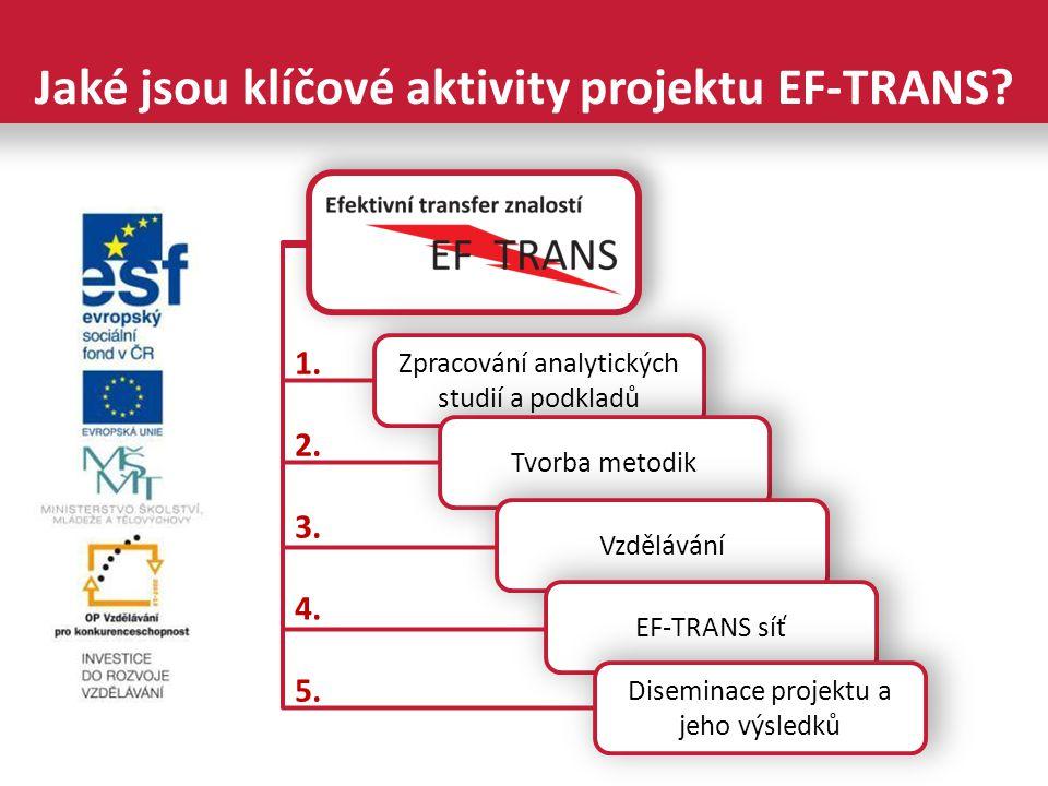 Jaké jsou klíčové aktivity projektu EF-TRANS.