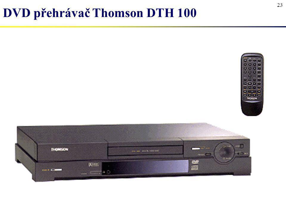 23 DVD přehrávač Thomson DTH 100