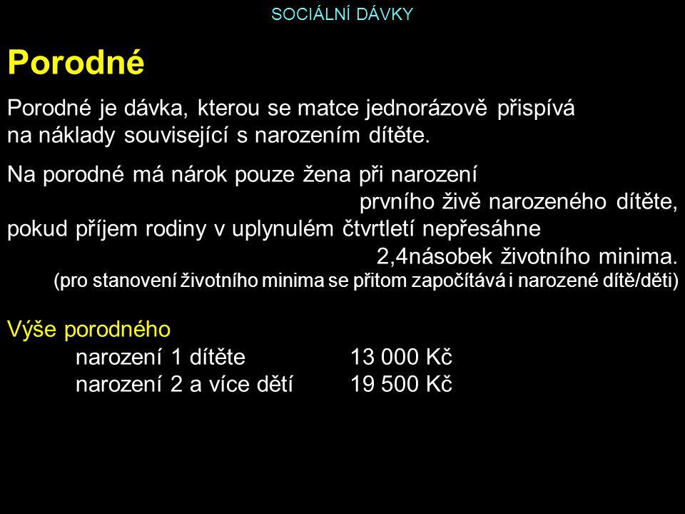 SOCIÁLNÍ DÁVKY Podpora v nezaměstnanosti Nárok na podporu má občan ČR, který v posledních dvou letech před zařazením do evidence uchazečů o zaměstnání získal alespoň 12 měsíců důchodového pojištění nebo potřebnou dobu pojištění získal prostřednictvím tzv.