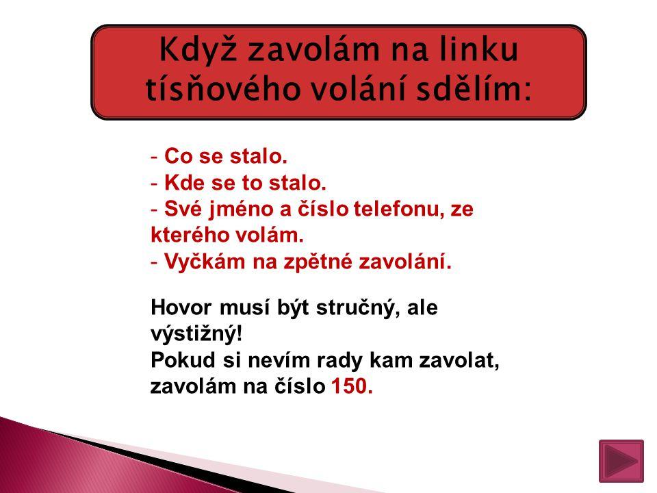 112 Jednotné evropské číslo tísňového volání